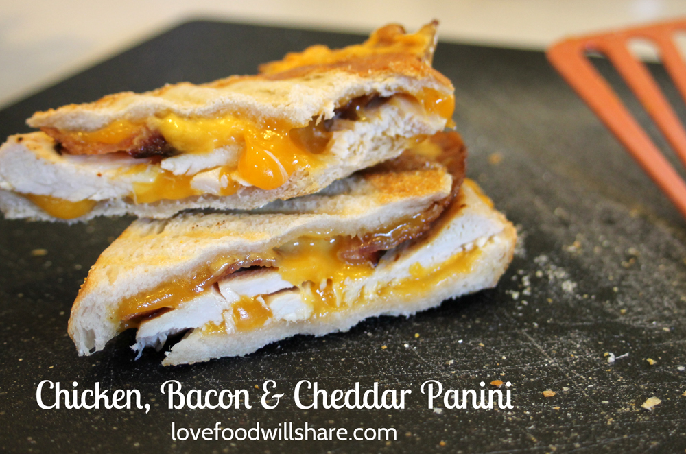 Chicken, Bacon & Cheddar Panini uses rotisserie chicken and makes this ...