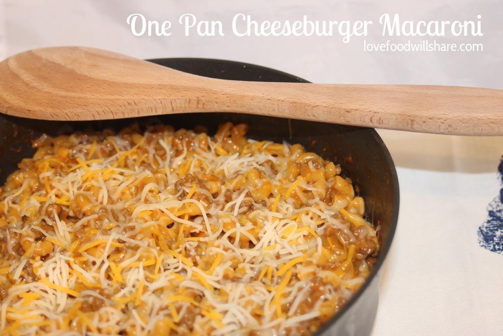 One Pan Cheeseburger Macaroni 1